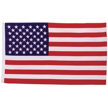 Outdoor Fluttering Flag, Canvas sleeve and 2 Brass Grommets