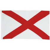 200D Nylon Flag With Canvas Sleeve And 2 Brass Grommets