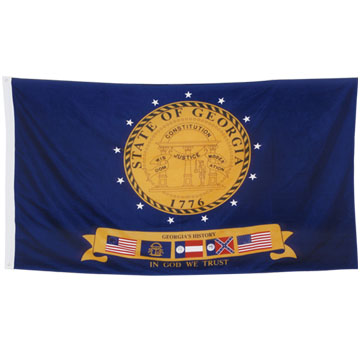200D Nylon Flag With Canvas sleeve And 2 Brass Grommets, 4' x 6', 5' x 8'
