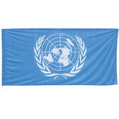 High quality flag with 2 ring cords