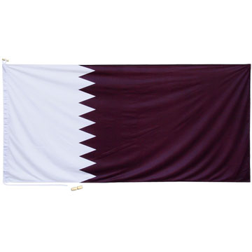 High quality flag with canvas sleeve, cord and 2 wooden toggles