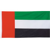75D polyester flag with white sleeve and 2 brass grommets