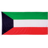 High quality knitted Polyester Flag with White Sleeve and 2 ring cords