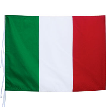 75D Polyester Flag With 75D Polyester Sleeve And cotton stripes