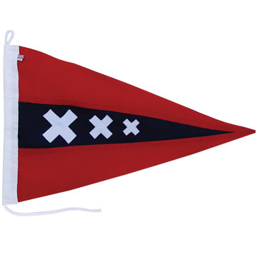 High Quality 300D Polyester Flag With  all-sewn Stripes and X, Canvas Sleeve and Cords