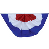 Pleated Full Fan Bunting(without stars), 210D Nylon With All-sewn Stripes
