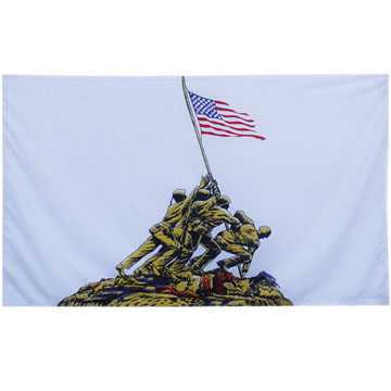 75D polyester fabric is usually used in making printed flags