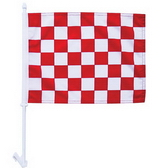High-Quality 1-ply Car Window Flag With Clip Attachment