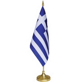 10 x 20 cm flag plastic pole and base, 32.5 cm height