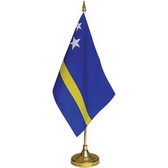 15 x 22.5 cm flag plastic pole and base, 37 cm height
