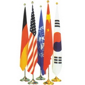 Indoor standing flag, placed in offices & meeting-room