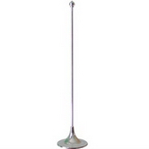 Desktop flagpole & base, 32.5 cm height, Color white