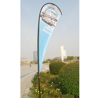 High quality beach flag with 300D polyester sleeve