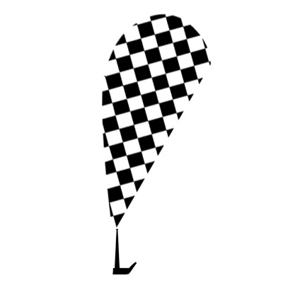 Checkered Paddle Flags