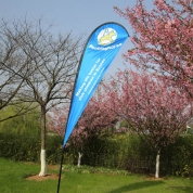 2-ply Teardrop Flags