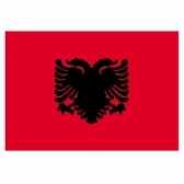 Albania flags    High-Quality 2-ply Car Window Flag With Clip Attachment