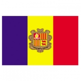 Andorra flags     High-Quality 2-ply Car Window Flag With Clip Attachment