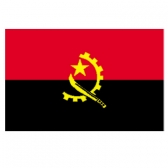 Angola flags    High-Quality 2-ply Car Window Flag With Clip Attachment