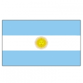 Argentina flags        High-Quality 2-ply Car Window Flag With Clip Attachment