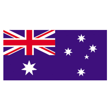 Australia flags     High-Quality 2-ply Car Window Flag With Clip Attachment
