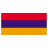 Armenia flags    High-Quality 2-ply Car Window Flag With Clip Attachment