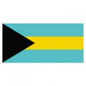 Bahamas flags     High-Quality 2-ply Car Window Flag With Clip Attachment