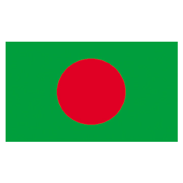 Bangladesh flags     High-Quality 2-ply Car Window Flag With Clip Attachment