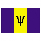 Barbados flags      High-Quality 2-ply Car Window Flag With Clip Attachment