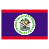 Belize Flags   High-Quality 2-ply Car Window Flag With Clip Attachment