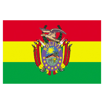 Bolivia Flags   High-Quality 1-ply Car Window Flag With Clip Attachment