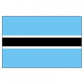 Botswana Flags     High-Quality 1-ply Car Window Flag With Clip Attachment