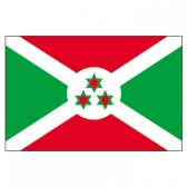 Burundi  Flags     High-Quality 1-ply Car Window Flag With Clip Attachment