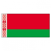 Byelorussian  Flags     High-Quality 1-ply Car Window Flag With Clip Attachment