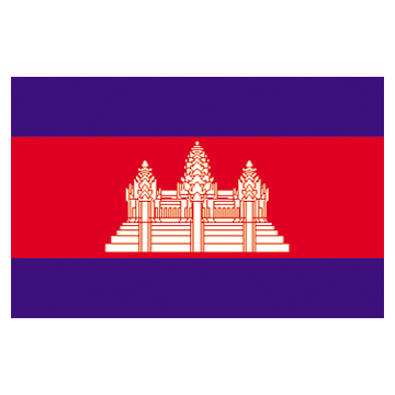 Cambodia  Flags     High-Quality 1-ply Car Window Flag With Clip Attachment