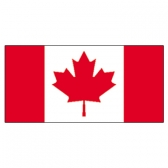Canada  Flags     High-Quality 1-ply Car Window Flag With Clip Attachment