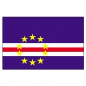 Cape Verde  Flags     High-Quality 1-ply Car Window Flag With Clip Attachment