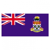 Cayman Islands  Flags     High-Quality 1-ply Car Window Flag With Clip Attachment
