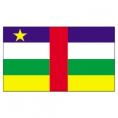 Central Africa Rep  Flags     High-Quality 1-ply Car Window Flag With Clip Attachment