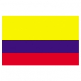 Colombia Flags     High-Quality 1-ply Car Window Flag With Clip Attachment