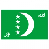 Comoros Flags     High-Quality 1-ply Car Window Flag With Clip Attachment