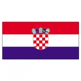 Croatia Flags     High-Quality 1-ply Car Window Flag With Clip Attachment