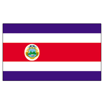 Costa Rica Flags     High-Quality 1-ply Car Window Flag With Clip Attachment