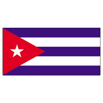 Cuba Flags     High-Quality 1-ply Car Window Flag With Clip Attachment