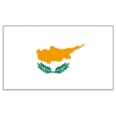 Cyprus Flags     High-Quality 1-ply Car Window Flag With Clip Attachment