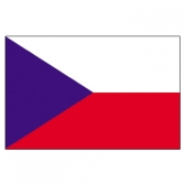 Czech Flags     High-Quality 1-ply Car Window Flag With Clip Attachment