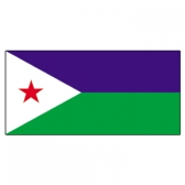 Djibouti Flags     High-Quality 1-ply Car Window Flag With Clip Attachment