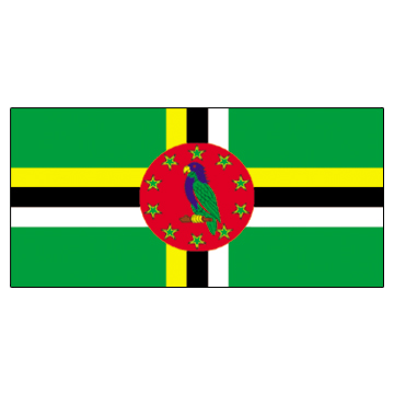 Dominica Flags     High-Quality 1-ply Car Window Flag With Clip Attachment