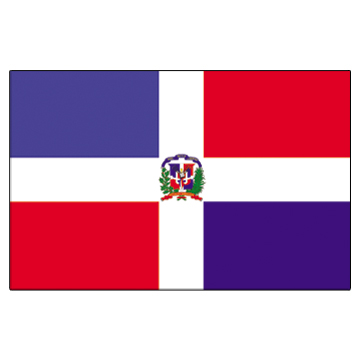 Dominican Rep Flags     High-Quality 1-ply Car Window Flag With Clip Attachment