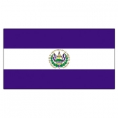 El Salvador Flags     High-Quality 1-ply Car Window Flag With Clip Attachment