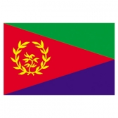 Eritrea Flags     High-Quality 1-ply Car Window Flag With Clip Attachment